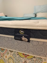 Serra Queen size pillow top mattress.