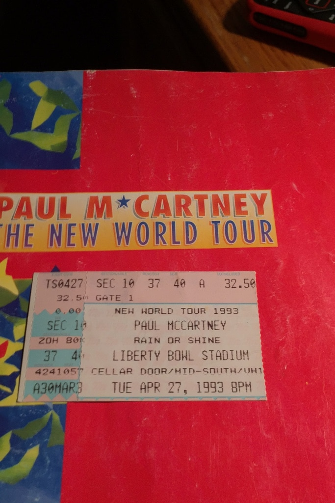 Photo Paul Mcartney The New World Tour