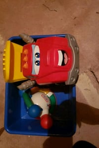 Used toy Truck and toy kettle
