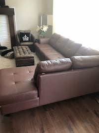 tufted gray leather sectional sofa Calgary, T3H 0B4