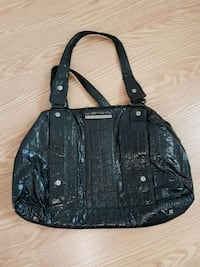 black leather crocodile skin shoulder bag Edmonton, T5C 0C9