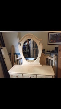 white wooden dresser with mirror Dartmouth, B2W 4N5