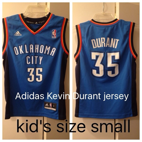 the latest 4ca4e 638f0 Kevin Durant Adidas NBA jersey kid's size small