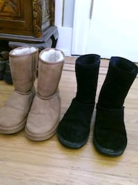 three pairs of brown and black boots Vancouver, V6K 2N1