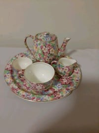 "JAMES KENT ""APPLE BLOSSOM"" TEA SET/BREAKFAST SET FOR ONE"