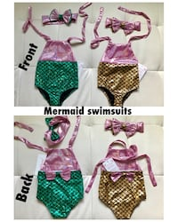 Mermaid swimsuits $15 each! Brand new! Edmonton, T6W 2C3