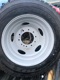 white 5-spoke car wheel with tire Red Deer