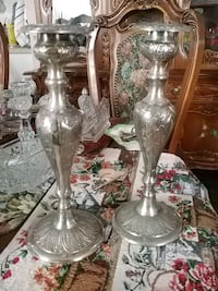 Set of 2 vintage silver plated candle holders Laval, H7G 1G2