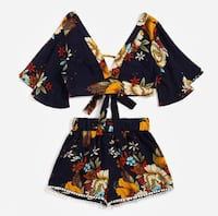 2 Piece floral Printed outfit brand new small Toronto, M3J 1L7