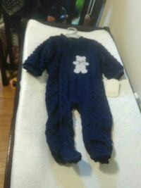 blue and white onesie with hat Burlington