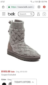 Knit Ugg boot