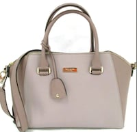 Kate Spade NY Dome Zip Leather Satchel Purse Long Beach