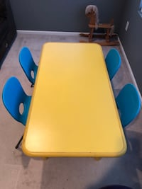 Children's table and chair set.