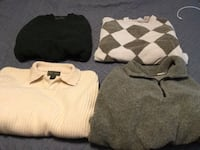 White and gray sweater and black pants Troy, 45373