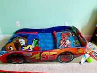 Blue and red car bed frame with mattress Hanover, 21076