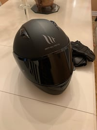 Matte black helmet with sena bluetooth (gloves already sold) Vaughan, L4J 4T8