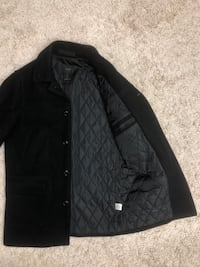J. Crew Men's Slim Small University Winter Coat Black