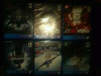 four assorted PS4 game cases Union City, 94587