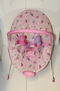 Good condition baby's pink and white floral bouncer Coquitlam, V3H