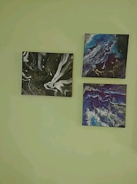 two black and white abstract paintings Edmonton, T6E 2R5