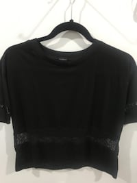 black scoop-neck shirt Surrey