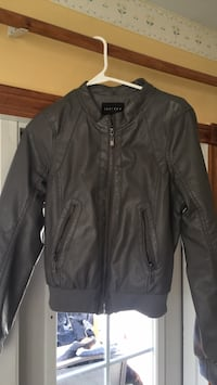 black leather zip-up jacket Riverview, E1B 2B9