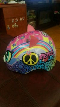 Pink cat bicycle helmet for girls