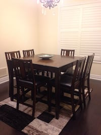 Solid wood Dining Table & 6 soft genuine leather  Brampton, L7A