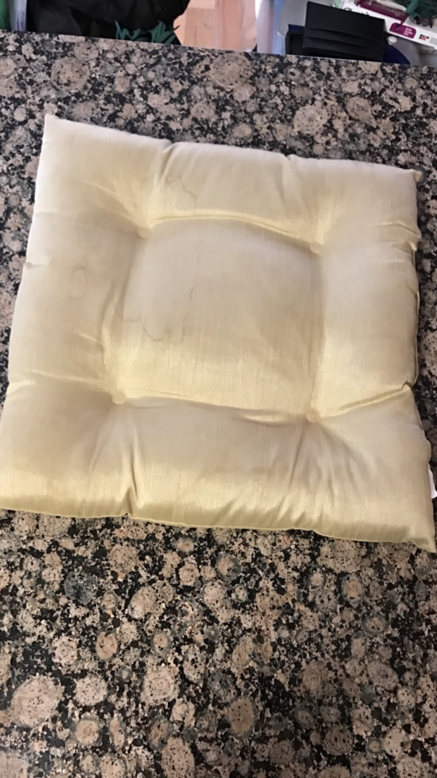 Used square white throw pillow in New York