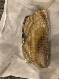 Gold sparkly clutch for night out Orangeburg, 10962