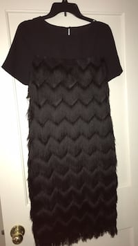 Black Fringe Dress- new
