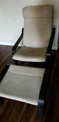 MUST GO! - IKEA POANG Arm Chair and Foot Rest Foster City, 94404