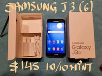 $145FIRM SAMSUNG J3(6)v.good condition+box+charger Pointe-Claire, H9R 2X5