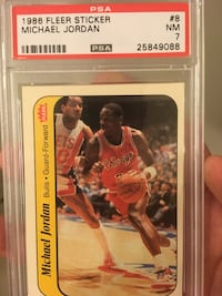 1986 fleer Michael Jordan rookie sticker  Guelph/Eramosa