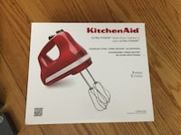 Beautiful NEW Empire Red KitchenAid 5-Speed Ultra Power Hand Mixer Annandale, 22003