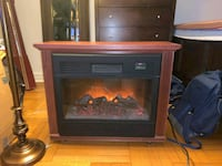 Wooden electrical fire place