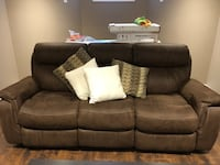 brown suede 3-seat recliner sofa Springwater