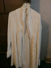 white and brown long-sleeved dress 376 mi