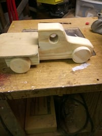 homemade wooden flatbed truck 9 or 10 inch long