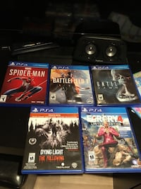 six assorted PS4 game cases 606 km