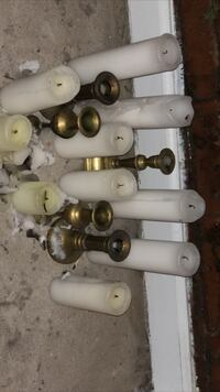 Only Tall white candles