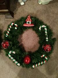 green candy cane wreath