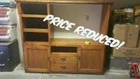 Solid Oak Mission Style Entertainment Center  Yuma, 85364