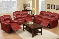 Leather Reclining Sofa Set+coffee table Glendale, 91206
