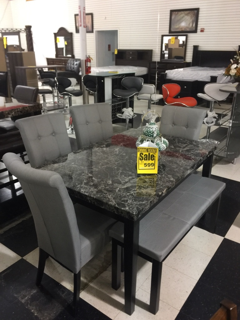 Letgo Gray And Black Dining Table Set In Douglasville Ga