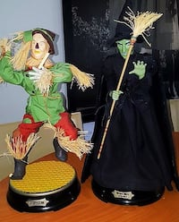"Wizard of Oz Scarecrow and Wicked Witch Animated Dolls 19.5"" Phoenix, 21131"