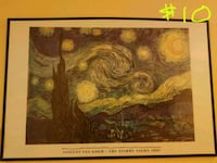 1889 The Starry Night painting by Vincent Van Gogh with text overlay Watsonville, 95076
