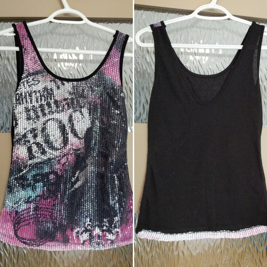 Sequins tank tops size small worn twice  e866c823-1deb-476f-b46a-a91801372ca5