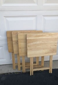 Set of 4 Tray Tables Manassas