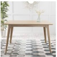 NIB Noble House Caruso Natural Oak Wood Dining Table, Appears BRAND NEW!! Retails $260 Green, 44685